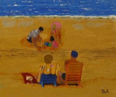 Une famille à la plage