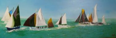 Flottille en pertuis régatant dans la baie de La Flotte